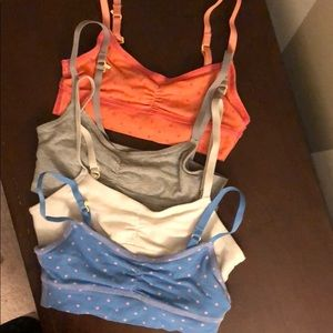 4 yellowberry for aerie girls size med sports bras